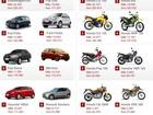 Veja 10 carros e 10 motos mais vendidos em novembro de 2013