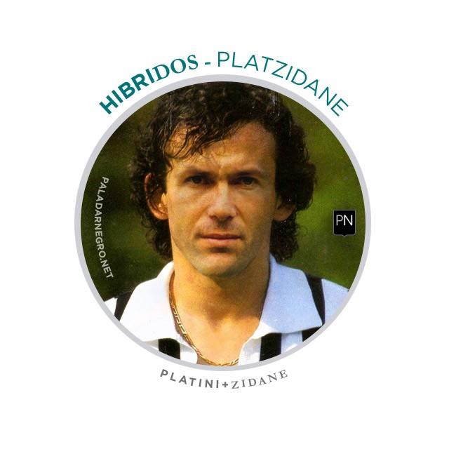 Platzidane, mistura de Platini com Zidane