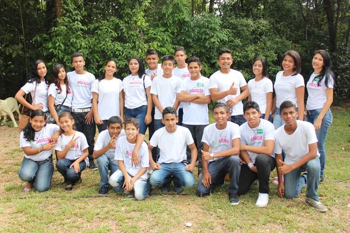 Alunos da E.E. Dom Jacson Damasceno (Foto: Katiúscia Monteiro/ Rede Amazônica)