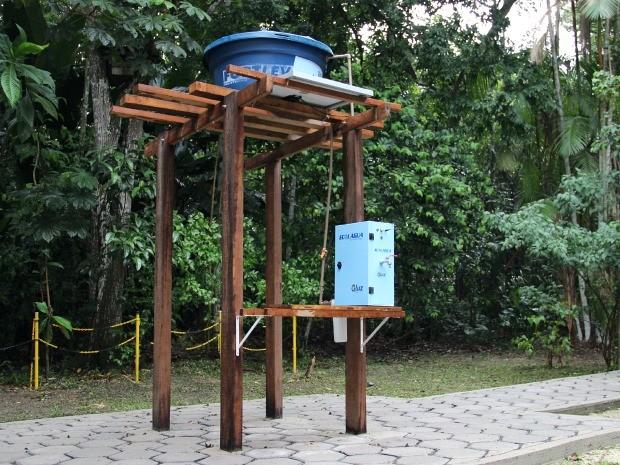 Ecolágua é alternativa para solucionar falta de água para consumo (Foto: Jamile Alves/G1 AM)