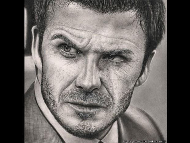 David Beckham (Foto: Raj Singh Tattal/The PenTacular Artist)