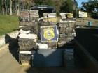 Polícia apreende 920 kg de maconha dentro de um carro na BR-376, no PR