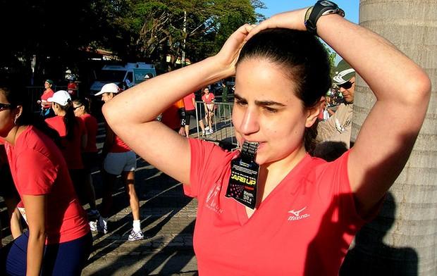 Joana Ahouagi Eu Atleta Corrida Gel (Foto: Arquivo Pessoal)