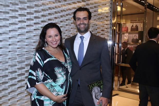 Mariana Belém e o marido, o empresário Cristiano Saab (Foto: Thiago Duran/AgNews )