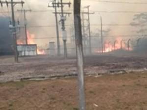 Incêndio Vigia (Foto: Reprodução/TV Liberal)