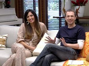 Leifert e Patrícia conversam sobre aplicativos de paquera (Foto: Tv Globo/Gshow)