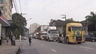 Caminhoneiros mantêm protestos na Baixada Santista e no Vale do Ribeira