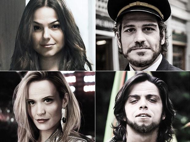 Confira abaixo como os atores imaginam seus personagens nos dias de hoje (Foto: Gshow)