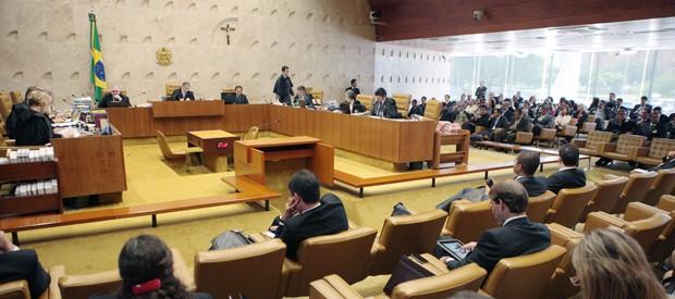 Plenário do Supremo Tribunal Federal durante julgamento do mensalão (Foto: Carlos Humberto/SCO/STF )