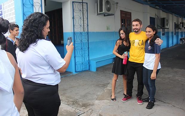 Apresentador do Zappeando, Moacyr Massulo, é o padrinho do evento (Foto: Katiúscia Monteiro/ Rede Amazônica)