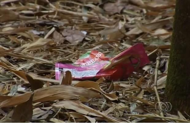 Frequentadores do Parque Areião reclamam do abandono e lixo no local, em Goiânia, Goiás (Foto: Reprodução/TV Anhanguera)