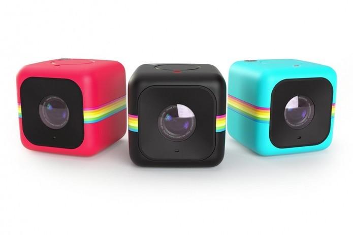 A portátil Cube traz um design com material emborrachado e em três opções de cores. (Foto: Divulgação/Polaroid)