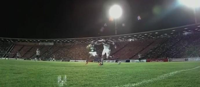 Victor Atlético-MG calcanhar Uberlândia (Foto: Reprodução SporTV)