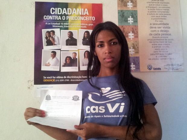 Riany Sabará, transexual de Piracicaba (Foto: Thomaz Fernandes/G1)