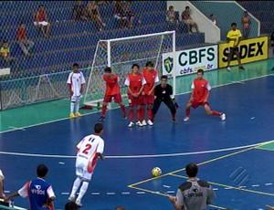 Seleção Pará sub-15 de futsal vence Minas Gerais por 3 a 1 e conquista vaga nas semifinais (Foto: Reprodução TV Liberal)