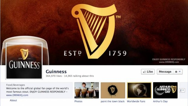 Facebook: Guinness (Foto: reprodução / internet)