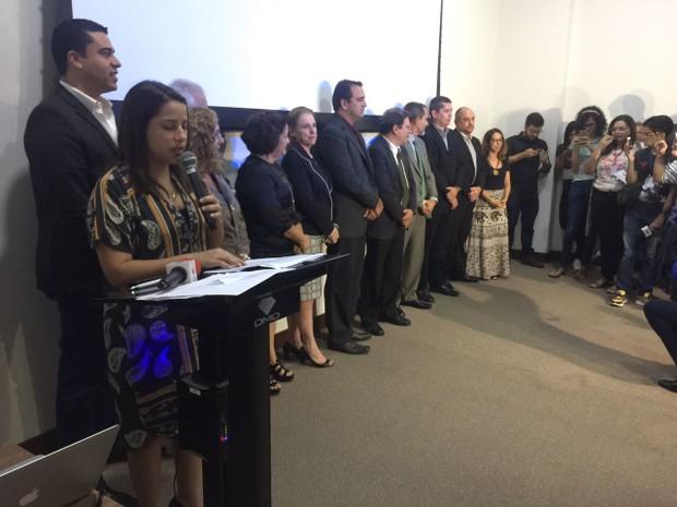 Prefeita eleita de Caruaru, Raquel Lyra anuncia nomes do secretariado (Foto: Mário Flávio/G1)