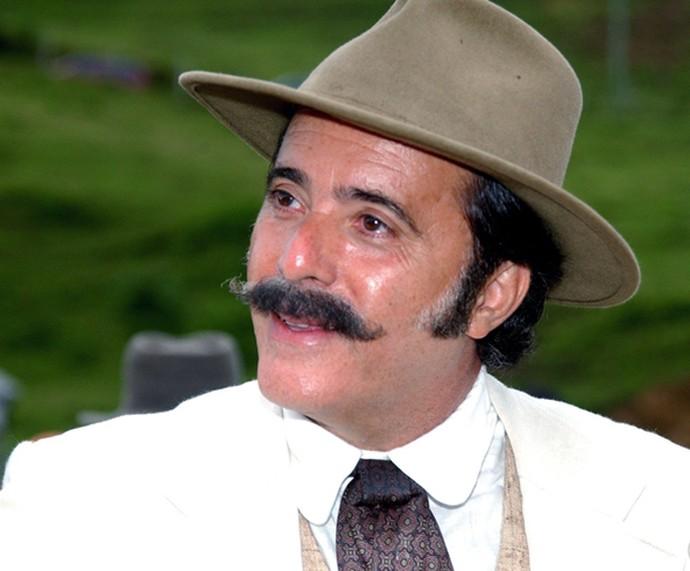 Tony Ramos usou look de época para personagem em 'Cabocla' (Foto: João Miguel Júnior / TV Globo)