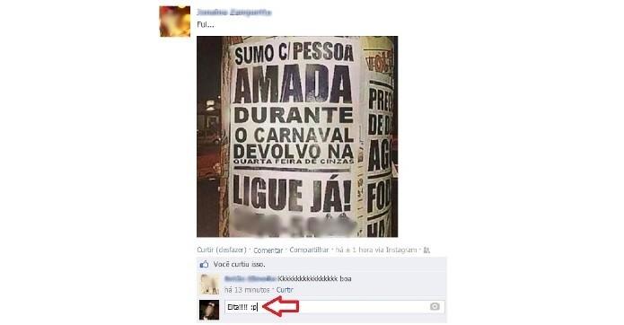 Inclua emoticons em seus comentários no Facebook (Foto: Reprodução/Lívia Dâmaso)