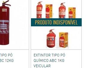 Associação promete estabilizar disponibilidade dos extintores (Foto: Reprodução)