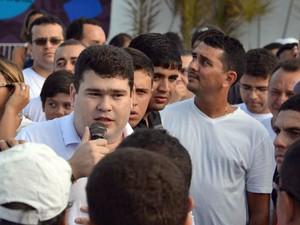 Nestor Case é divulgador do Telexfree no RN (Foto: Marcelo Barbosa)