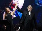 Sem Paula Fernandes, Andrea Bocelli canta com Anitta e Daniel