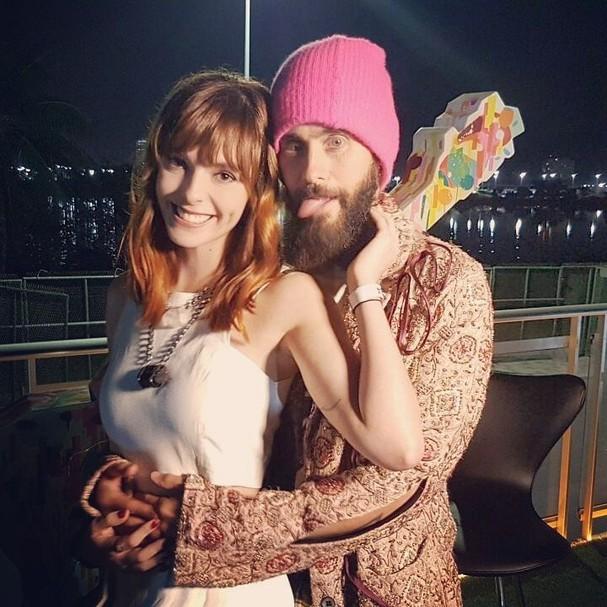 Titi Müller e Jared Leto (Foto: Instagram/Reprodução)