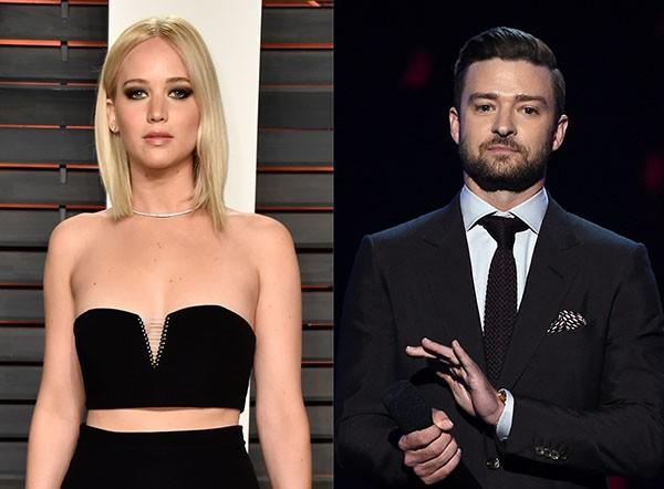 Jennifer Lawrence e Justin Timberlake (Foto: Getty Images)