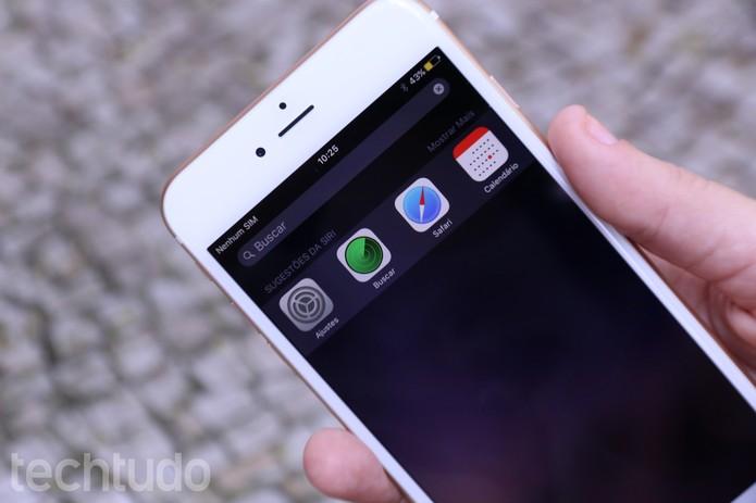 iOS 9 Sugestões da Siri (Foto: Maria Clara Pestre/TechTudo)