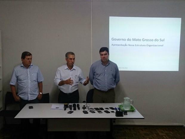 Governador eleito de MS anuncia nova estrutura do governo a partir de 2015 (Foto: Fabiano Arruda/TV Morena)