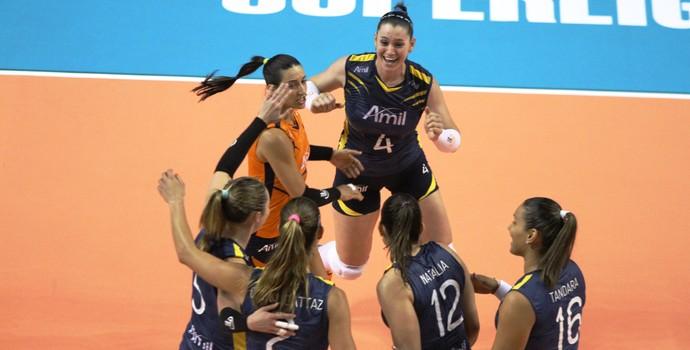 Campinas x Brasília Superliga feminina vôlei (Foto: Felipe Christ / Amil)