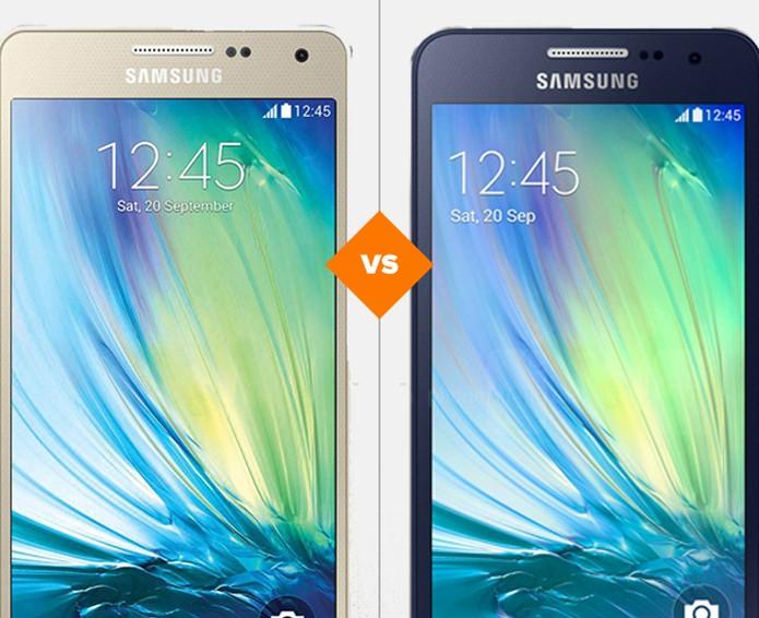 Galaxy A3  ou Galaxy A5, qual metálico leva a melhor? (Foto: Arte/TechTudo)