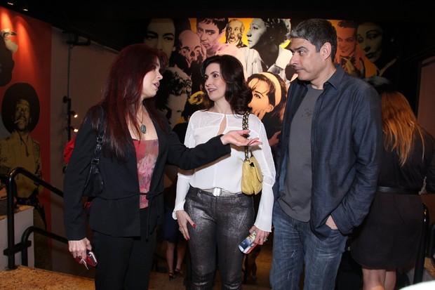Françoise Forton com Fátima Bernardes e William Bonner (Foto: Alex Palarea/ AgNews)