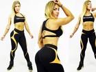 Verônica Araújo posa para catálogo de moda fitness