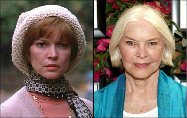 Ellen Burstyn, aos 40 anos, como a mãe da menina possuída de 'O Exorcista' (1973) e hoje, aos 81 anos de idade. (Foto: Divulgação e Getty Images)