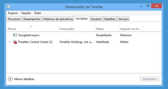 Desative a inicialização de aplicativos (Foto: Reprodução/Helito Bijora)