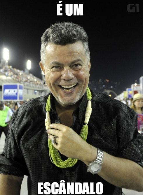 Sobre a comissão de frente da Salgueiro  (Foto: Valéria del Cueto/Divulgação)