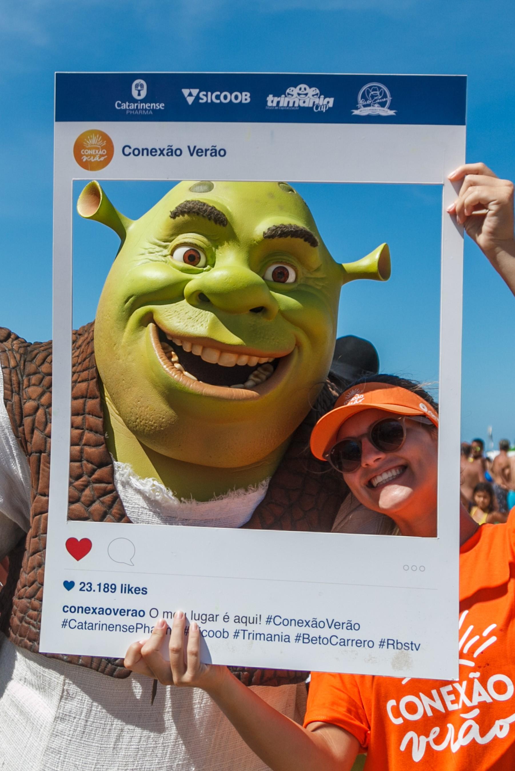 Personagem Shrek também estará em Piçarras (Foto: José Luiz Somensi/Divulgação)