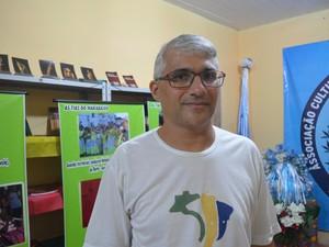 Fabio Gomes, fotógrafo que organizou a exposição (Foto: Fabiana Figueiredo/G1)
