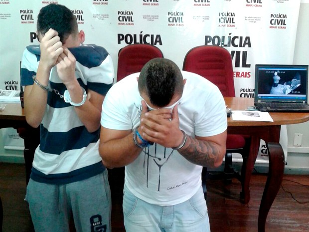 Suspeito de crimes em boate, à esquerda, é preso. Homem à direita foi preso em flagrante por porte de arma (Foto: Divulgação/ Polícia Civil)