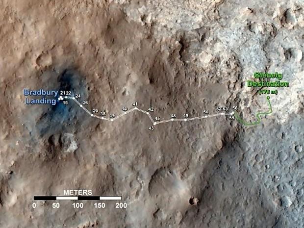 Curiosity localização atual (Foto: Nasa/JPL-Caltech)
