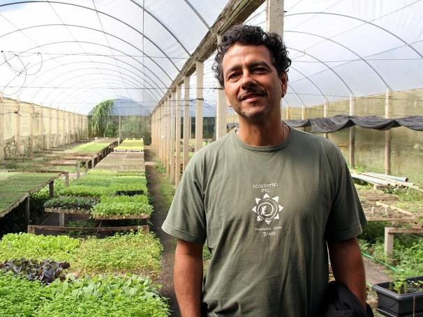 O ator Marcos Palmeira recebe a equipe do Globo Ciência em sua fazenda, em Teresópolis (RJ) (Foto: Divulgação/ Lucas Conrado)