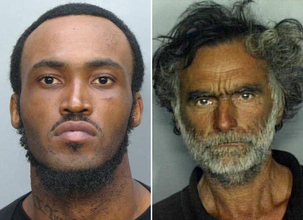 Fotos não datadas divulgadas pela polícia de Miami de Rudy Eugene, 31, que foi morto quando atacava Ronald Poppo, 65, em estrada da cidade (Foto: AP)