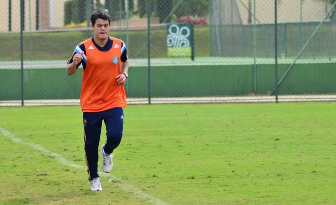 Mendieta treino Palmeiras Atibaia (Foto: Danilo Sardinha/GloboEsporte.com)