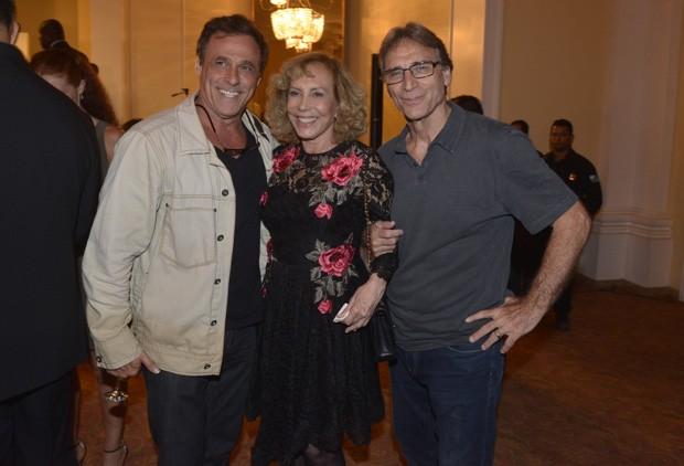 Oscar Magrini, Arlete Salles e Herson Capri (Foto: Fabio Cordeiro/QUEM)
