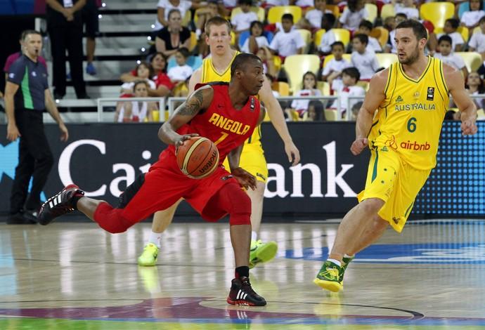 Ndoniema e gibson Austrália x Angola copa do mundo basquete (Foto: EFE)