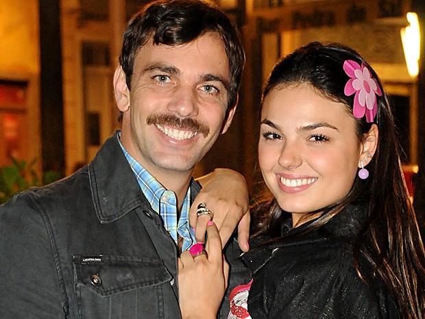 Robson (Marcelo Faria) e Rakelli eram super apaixonados em Beleza Pura (Foto: Frederico Rozário / TV Globo)