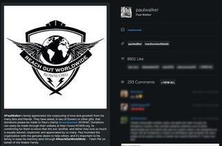 Equipe de Paul Walker posta em seu perfil do Instagram (Foto: Instagram / Reprodução)