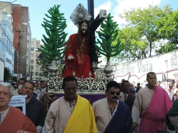 Via Sacra no Centro do Recife 2 (Foto: Luna Markman/G1)