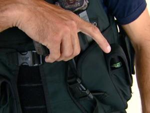 Guardas municipais de Leme, SP, trabalham armados desde 2009 (Foto: Marlon Tavoni / EPTV)